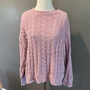 American Eagle light blush velour sweater